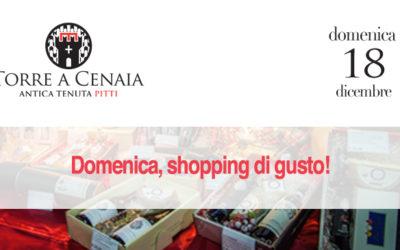 Domenica 18 dicembre, shopping di gusto!