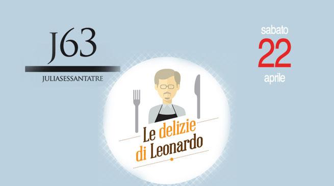 """Sabato 22 Aprile – J63 a """"Le Delizie di Leonardo"""""""
