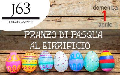 Domenica 1 aprile 2018 – Pranzo di Pasqua al Birrificio J63