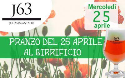 Mercoledì 25 aprile 2018 – Festa della Liberazione al Birrificio
