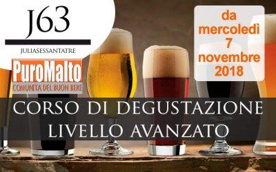 Dal 7 novembre 2018 – Corso di Degustazione Birra Livello Avanzato