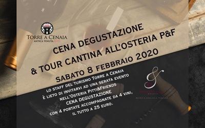 Cena Degustazione & Tour Cantina | presso l'Osteria P&F